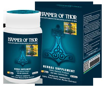 Hammer of Thor – doskonały środek, który poradzi sobie z każdym zaburzeniem wzwodu.